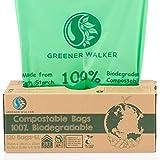 Greener Walker 25% Extra Dick Kompostierbare biologisch abbaubar Müllbeutel 6L/10L/30L Müllbeutel(6L-120 Müllsäcke)