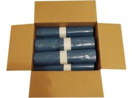 10 Rollen im Karton á 25 Heavy Duty Abfallsäcke (250 Stück), 120 Liter, absolut robust und stabil, 700x1100 mm, Stärke 39 my, Farbe blau -