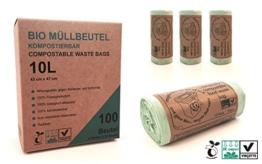 10L kompostierbare Müllbeutel | 100 Bio-Müllbeutel | 100{486f6434a0970097e160c2c921b8a6d42b7604038c57bdee337e1228adaeb739} zertifiziert kompostierbar | biologisch abbaubar | Müllsack | Casparo Eco Design -