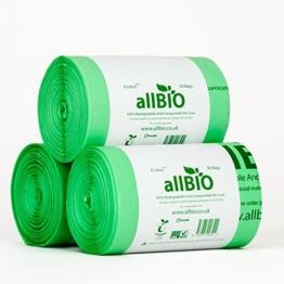150 x 6 Liter allBIO-Tüten 6 Liter 100{486f6434a0970097e160c2c921b8a6d42b7604038c57bdee337e1228adaeb739} Biologisch Abbaubare & Kompostierbare Tüten für den Küchenmülleimer -