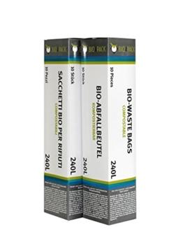 240 L Abfallbeutel 10er Pack / Bio4Pack /Müllbeutel / Mülltüte / Biobeutel / Kompostbeutel -