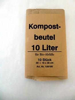 300 St. Bio Kompostbeutel 10 l, 200x160x360 mm, Kompostbeutel, Müllbeutel, Mülltüten, Biobeutel -