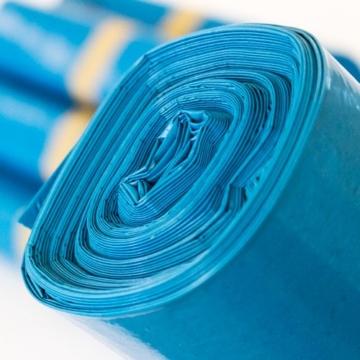 40 Stück Abfallsäcke Blau 240 Liter - 10 Stück auf Rolle - MÜLLSÄCKE aus LPDE-REGENERAT -