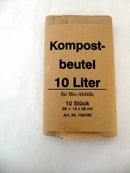 500 St. Bio Kompostbeutel 10 l, 200x160x360 mm, Kompostbeutel, Müllbeutel, Mülltüten, Biobeutel -