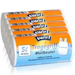 5x Swirl Tragegriff Müllbeutel 5L ( 40 stk./Rolle ) -
