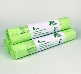 6Liter kompostierbar Caddy Einlagen für Lebensmittelabfälle/Caddy Staubbeutel-150Müllbeutel -