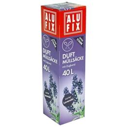 60 Stk. ALUFIX Duft Müllsäcke mit Zugband 40 L, 53x60cm zarter Lavendel -