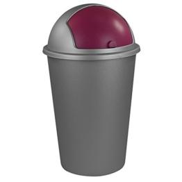 Abfalleimer 50L mit Farbauswahl - Kosmetikeimer - Mülleimer - Badezimmereimer - Abfallbehälter (Beere) -