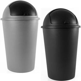 Abfalleimer 50L Push Can - mit Schiebedeckel - 68cm x 40cm grau -