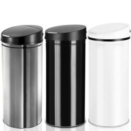 Abfalleimer / Mülleimer, automatisch, mit Bewegungssensor, Edelstahl, 56 l -
