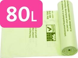 Alina 80L Kompostierbare Müllbeutel/Garten Abfälle Kompost Sack/Komposter/biologisch abbaubar grün 80Liter Sack mit Alina kompostieranleitung, 13 sacks -