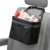 Auto-Mülleimer und Abfall-Tasche von Kewago | Kühltasche für unterwegs | Auslaufsicher mit Klettbefestigung und Schnellverschluss für die Kopfstütze ... -