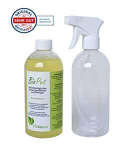 Biolopur | BioPet | Geruchsneutralisierer | Geruchsentferner - Spray | Reinigungsmittel Urin, Haustier etc. | KONZENTRAT -