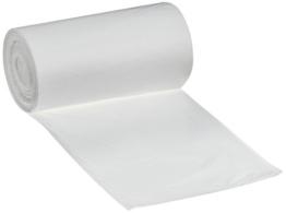 DEISS FIRST 36020 Müllbeutel mit bedruckter Banderole, 18 L, 460 mm x 520 mm, 50 pro Rolle, Weiß -
