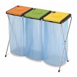 Dreifacher Müllsackständer für 3x 120 Liter Gelber Sack Mülleimer Müllsackhalter -