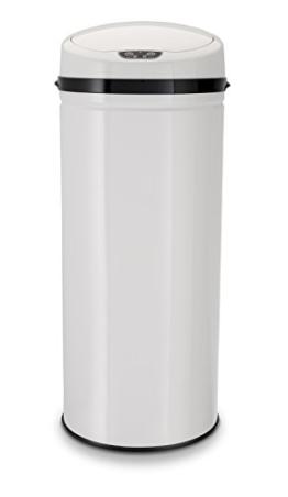 Echtwerk EW-AE-0260 Design Abfalleimer 42 L mit IR Sensor - Inox, edelstahl, weiß -
