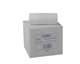 Funny HDPE Müllbeutel, 38.5 x 24.5 x 85 cm, weiß, circa 90 l, 1er Pack (1 x 360 Stück) -