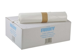 Funny HDPE Müllbeutel, 38.5 x 24.5 x 85 cm, weiß, extra stark circa 90 l, 1er Pack (1 x 360 Stück) -