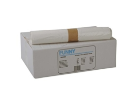 Funny LDPE Müllbeutel, 60 x 70 cm, weiß, extra stark circa 90 l, 1er Pack (1 x 250 Stück) -