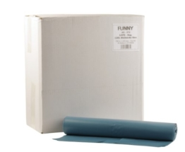 Funny LDPE Müllsäcke, 700 x 1100 mm - Typ 80 , blau, circa 120 L, 1er Pack (1 x 250 Stück) -