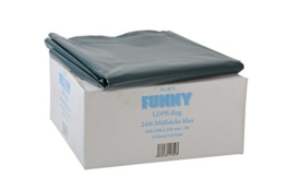Funny LDPE-Regenerat Müllsäcke, blau, lose, 240 l, Typ 80, 1er Pack (1 x 100 Stück) -