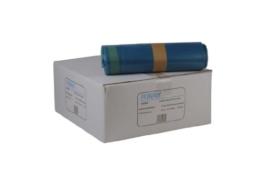 Funny LDPE-Zugbandsäcke, 700 x 1100 mm - Typ 60 extra, blau, circa 120 L, 1er Pack (10 x 25 Stück) -