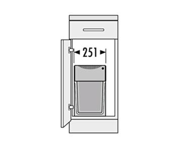 Hailo 3666101 Abfallsammler TA Swing 30.2/30 für Schränke ab 300 mm Breite mit Drehtür -