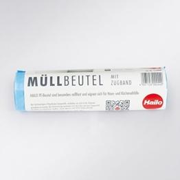 """Hailo Müllbeutel Rolle """"L"""" Beutel mit Zugband für Abfallsammler Inneneimer bis 40 Liter - 10 Stück blau -"""