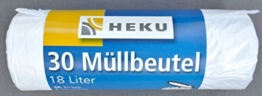 HEKU 0109 Müllbeutel 30 Stück 18l Küche 45x52cm weiss -