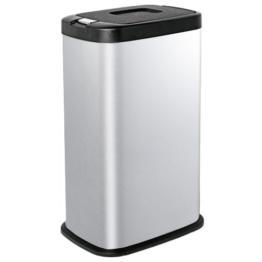 Kendan - Edelstahl 38 Liter Druckknopf-Automatik Mülleimer Recyceln Innenfach Abschnitt Müll Abfall Küche Abfalleimer -