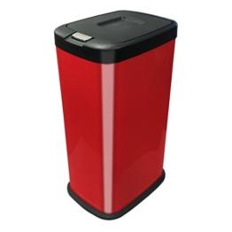 Kendan - Rot 38 Liter Druckknopf-Automatik Mülleimer Recyceln Innenfach Abschnitt Müll Abfall Küche Abfalleimer -