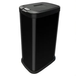 Kendan - Schwarz 38 Liter Druckknopf-Automatik Mülleimer Recyceln Innenfach Abschnitt Müll Abfall Küche Abfalleimer -
