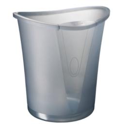 Leitz 52040092 Papierkorb Allura 18 Liter, Polystyrol, rauch transparent -