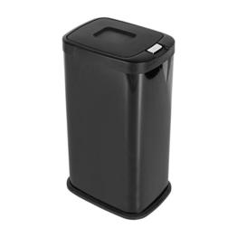 Mari Home Schwarz 38 Liter Pulverbeschichtet Stahl Mülltrenner Mülleimer Druckknopf-Automatik mit Inneneimer 38L -