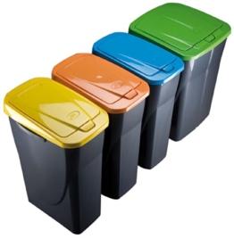 Mondex Müllsortierer 25 Liter mit orangenem Deckel -
