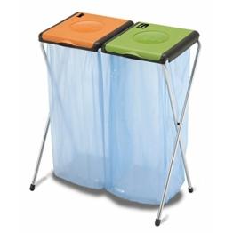 Müllsackständer Doppelt 2x 120L Blauer Gelber Sack -