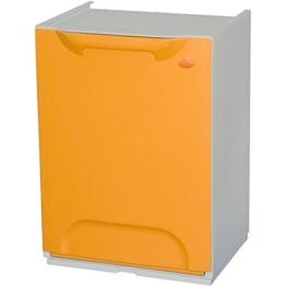Mülltrenner / Müllsortierer-Element 20 Liter, aus Kunststoff, gelb-orange -