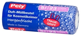 """pely 5558 Duft-Müllbeutel für Kosmetikeimer """"Morgenfrische"""", mit Tragegriff, 5 Liter, 23-Stück -"""