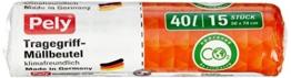 pely 8669 Tragegriff-Müllbeutel - klimafreundlich, 40 L, 15 Stück, 3-er Pack -
