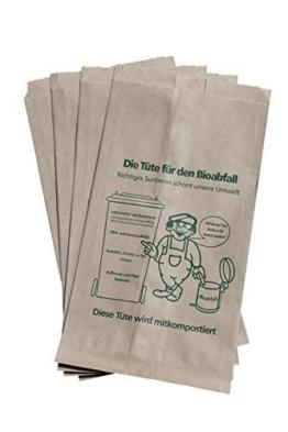 PGV 100 Bioabfalltüten Papier braun 9,5 l -