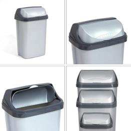 Schiebedeckel Mülleimer Mülltonne Abfalleimer Eimer Papaierkorb Inhalt 25 Liter -