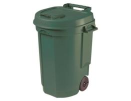 Siena Garden 329424 Fahrbarer Abfallbehälter grün, 110L, 55x58x81cm -