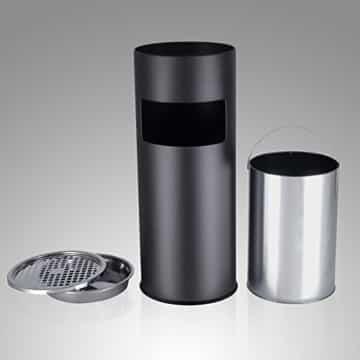 Songmics 30 L Mülleimer Standaschenbecher Abfalleimer mit Inneneimer 60,5 x 24,5 cm schwarz LTB17C -