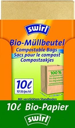 Swirl 10 l Bio-Müll Papierbeutel, 7er Pack (7 x 10 Stück) -