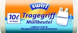 Swirl 10 l Tragegriff Müllbeutel, 4er Pack (4 x 37 Stück) -