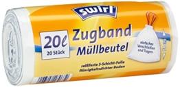 Swirl 20 l Zugband Müllbeutel, 9er Pack (9 x 20 Stück) -