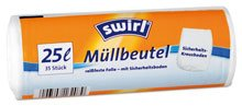 Swirl Müllbeutel 25 Liter, weiss - 35 St. -