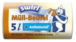 Swirl® Tragegriff Müllbeutel 5 Liter -