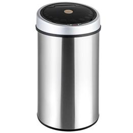 TecTake LUXUS Sensor Abfalleimer Mülleimer 50 Liter Volumen -