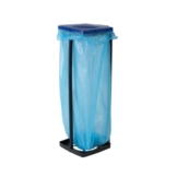 Top Star Müllbeutelhalter mit Deckel, Wertstoffsammler für Müllsäcke bis 120 Liter, Abfallbehälter für die Küche, Garage, oder Keller, 3-fach höhenverstellbar, bis 87 cm, auch für den gelben Sack geeignet, blau oder rot -